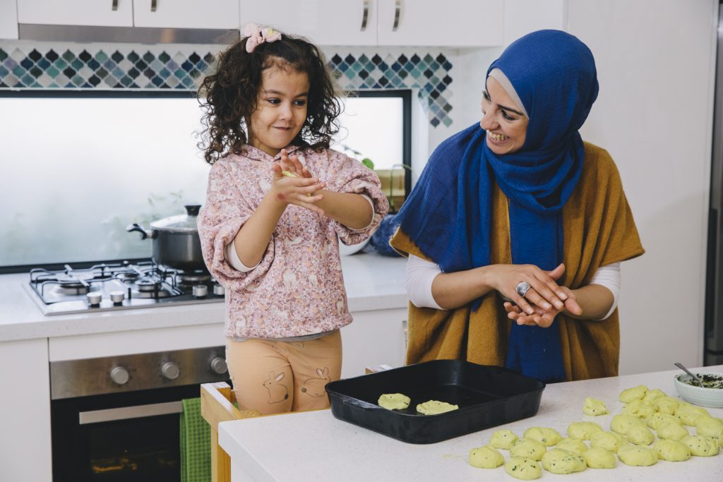 Aseel Tayah Aseel Tayah cooking with child