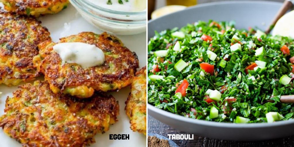Eggeh and Tabouli